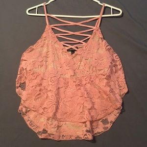 Float lace tank